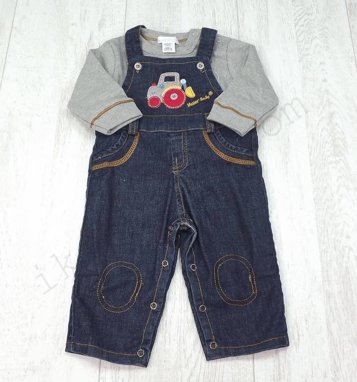macacão de bebé com camisola cinza