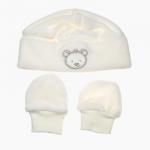 Gorro e Luvas para Bebé Bordado da Maiorista