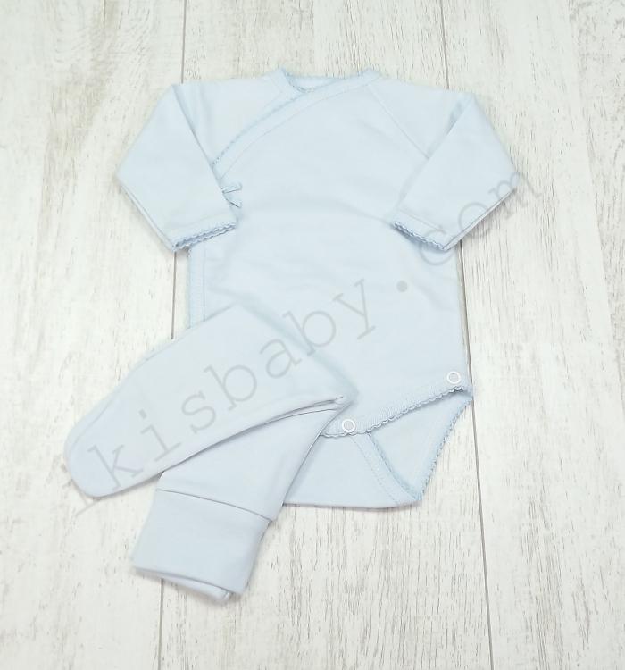 Body interior liso com calças para bebé