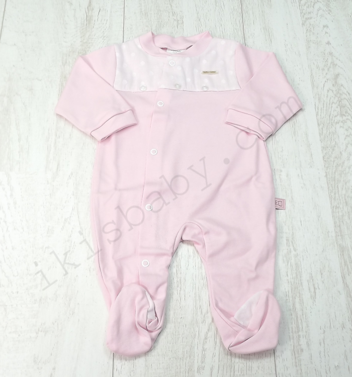 Babygrow aberto de lado rosa