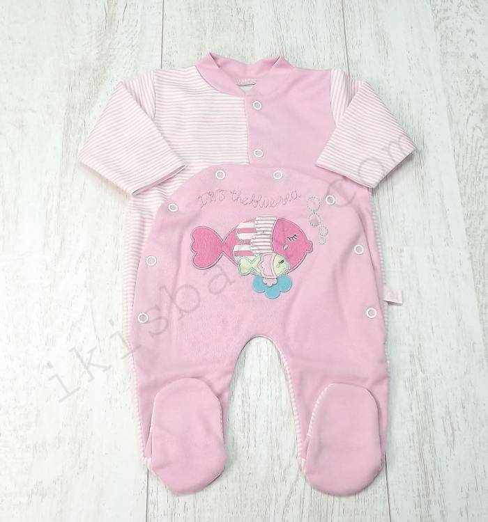 Babygrow rosa algodão