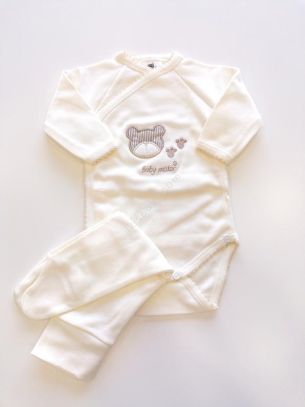 Body interior com calças para bebé