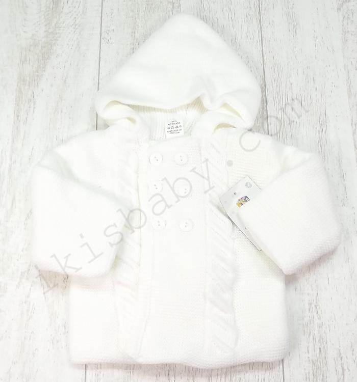 casaco branco com capuz