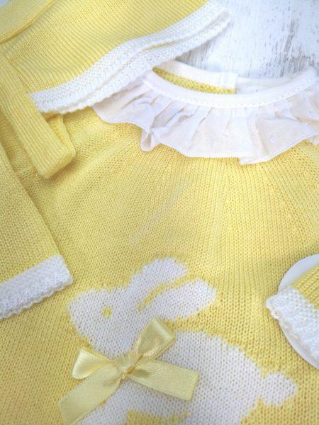 Conjunto de malha amarelo