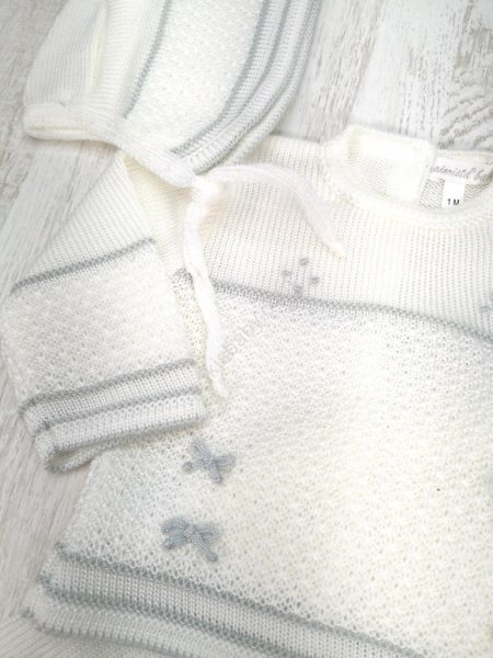 Conjunto de malha laços para bebé