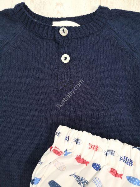 Conjunto de bebé com camisola e tapa-fraldas