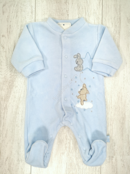 Babygrow Veludo Estrelas e Animais