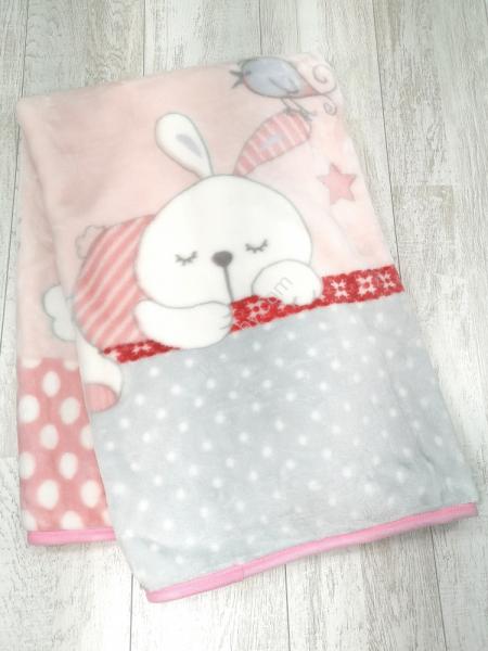 Cobertor cama bebé rosa