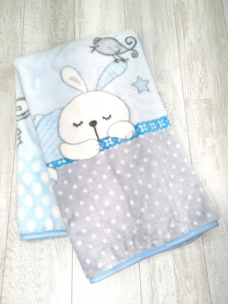 Cobertor cama bebé azul