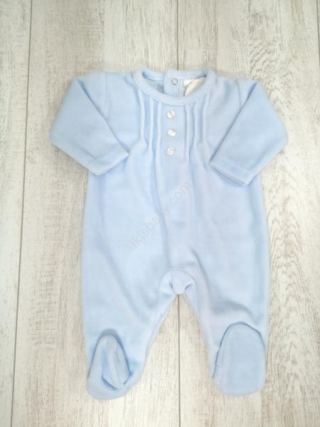 Babygrow bebé veludo azul