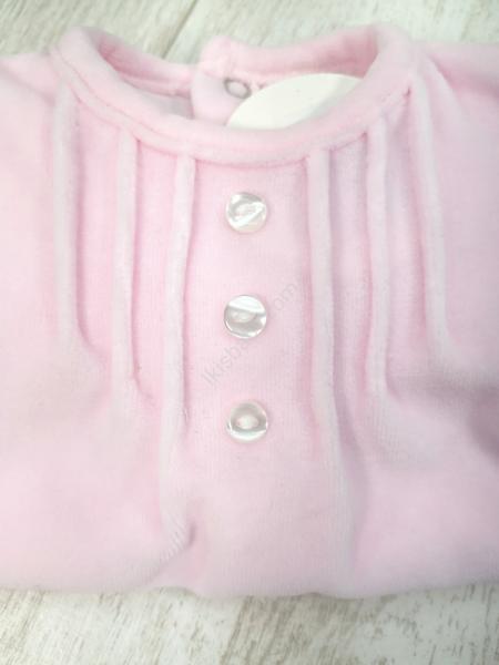 Babygrow bebé veludo rosa