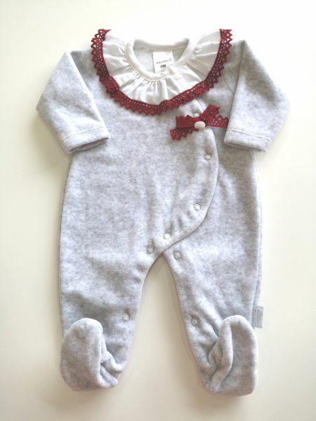 Babygrow menina inteiro cinza