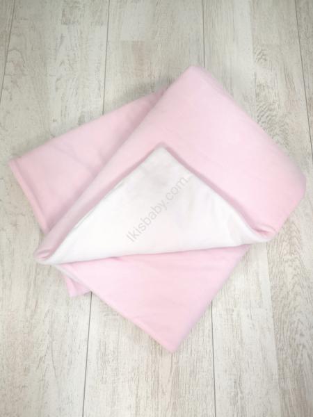 Manta veludo rosa dupla