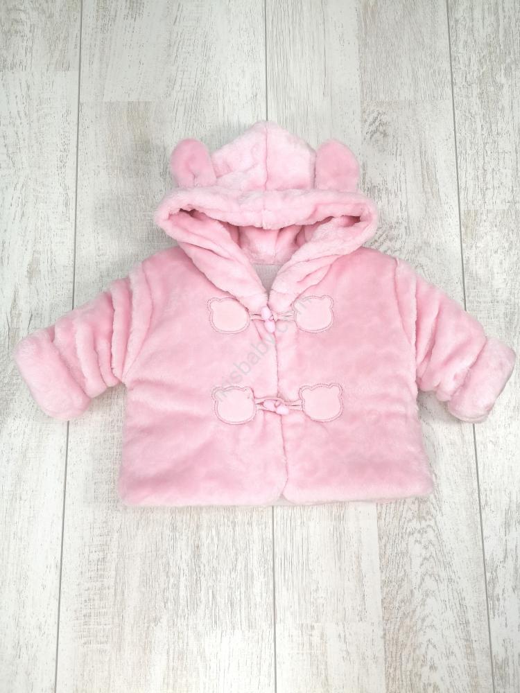 Casaco de Pêlo Rosa Forrado Para Bebé Ikisbaby Loja Online