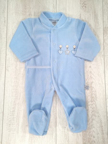 Babygrow estrela corações azul