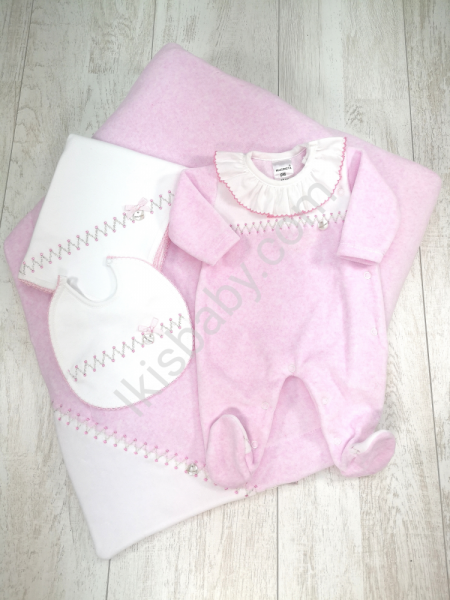 Conjunto de maternidade rosa mescla