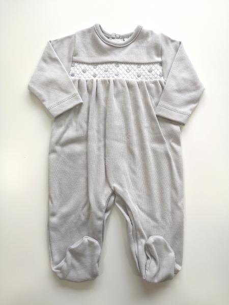 Babygrow algodão cinza