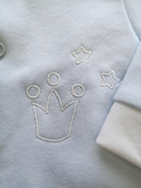 Babygrow algodão azul cardado