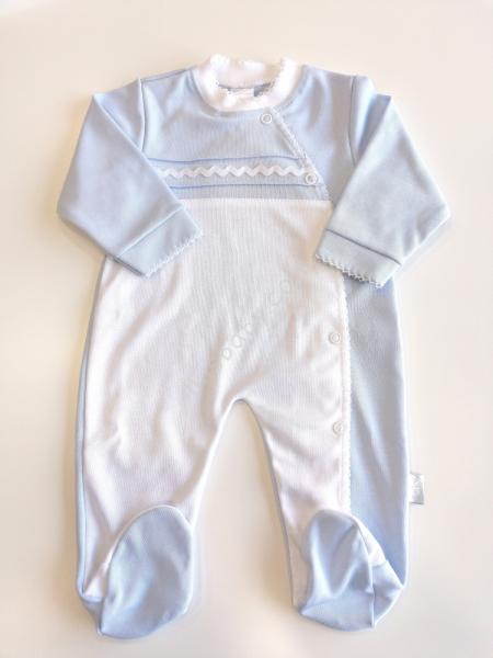 Babygrow Bebé Algodão Azul