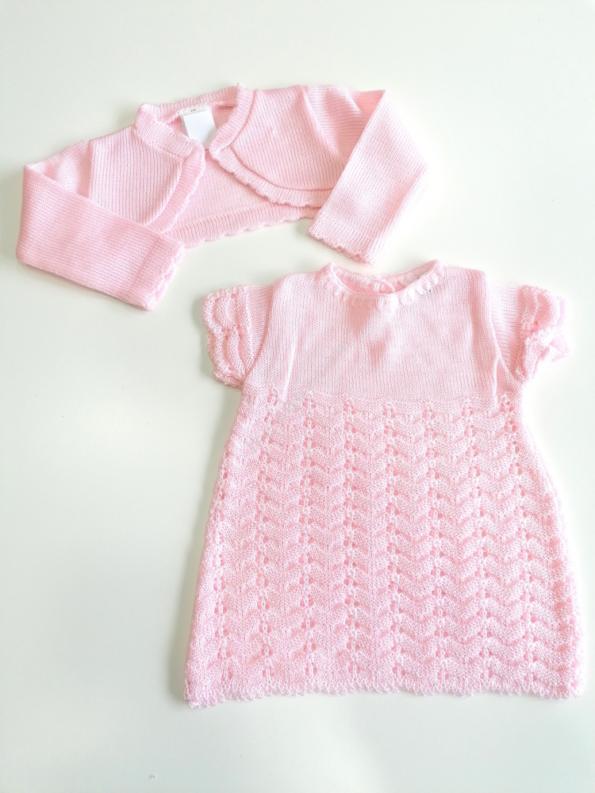Vestido com bolero rosa