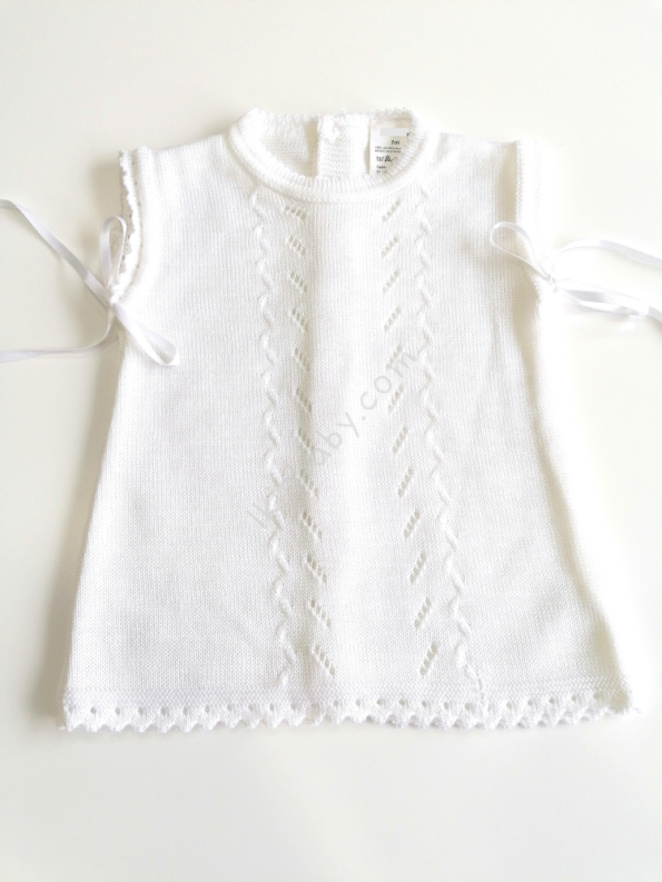 Vestido branco em malha