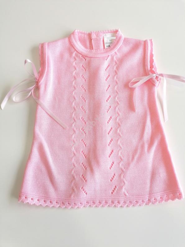 Vestido rosa em malha