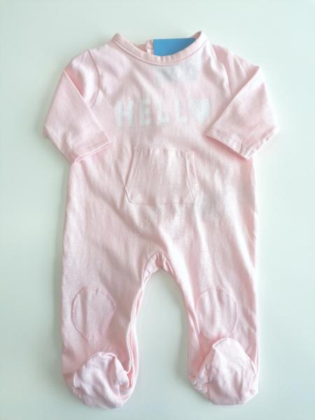 Babygrow algodão rosa estampado