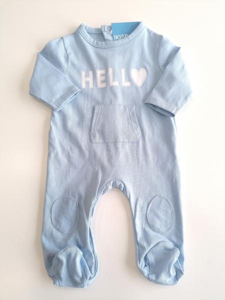 Babygrow algodão azul estampado
