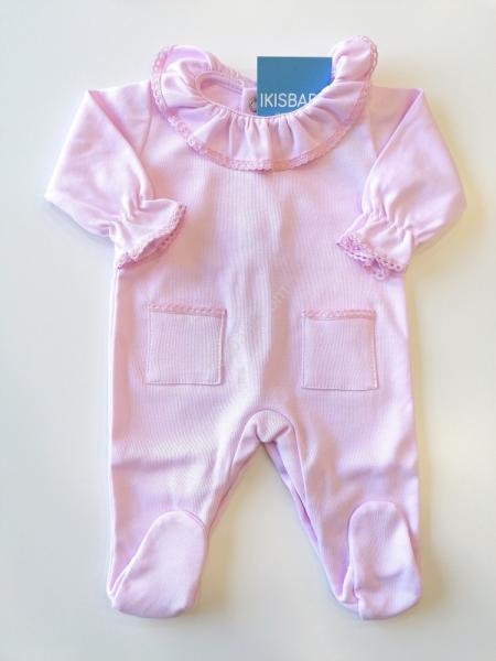 Babygrow Gola rendada rosa
