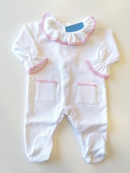 Babygrow Gola rendada branco