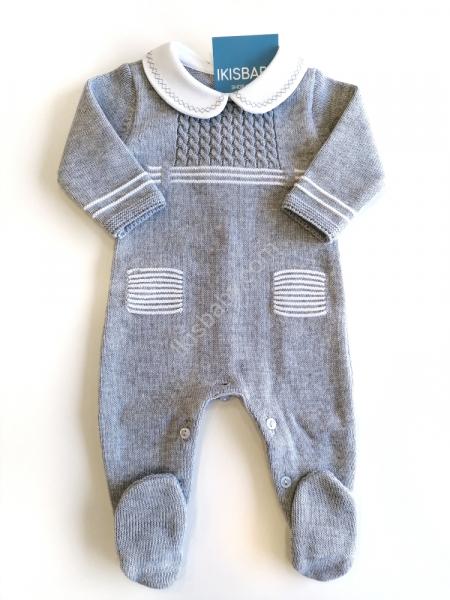 Babygrow malha algodão cinza