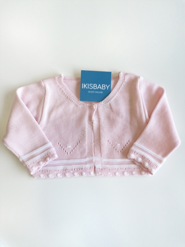 Bolero rosa para bebé