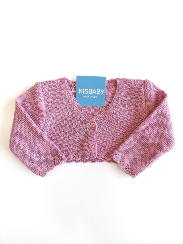 Bolero rosa forte para bebé