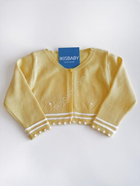 Bolero amarelo para bebé