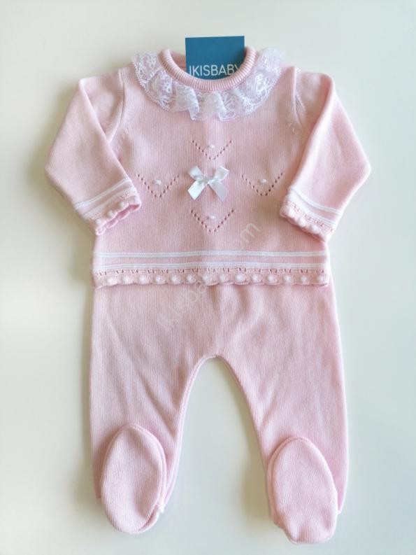 Conjunto malha algodão rosa
