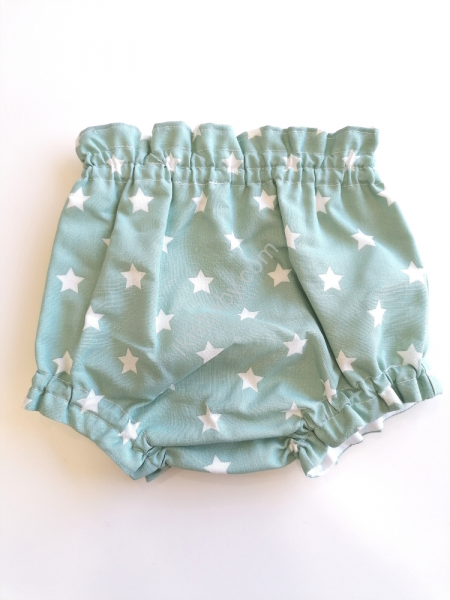 Tapa fraldas tecido verde