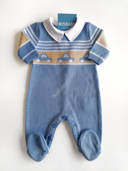 Babygrow malha azul