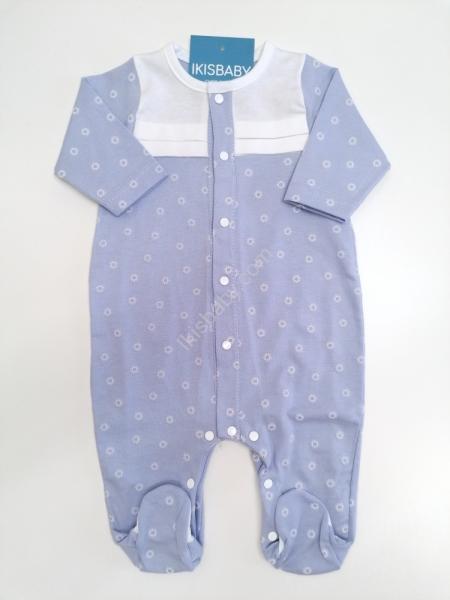Babygrow algodão estampado azul