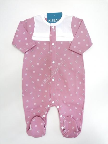Babygrow algodão estampado rosa