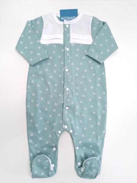 Babygrow algodão estampado verde