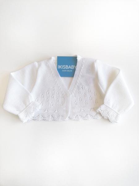 Bolero branco para bebé