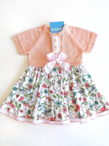 Vestido bebé menina em malha