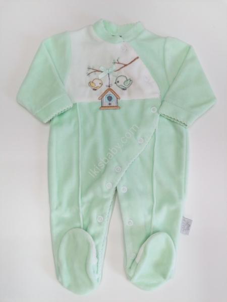 Babygrow em Veludo verde