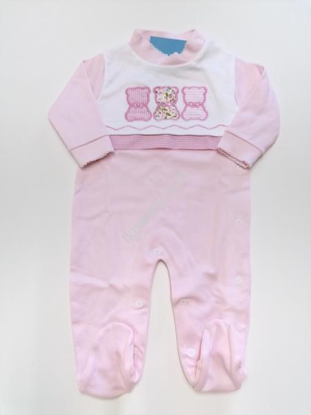 Babygrow Bebé rosa em Algodão