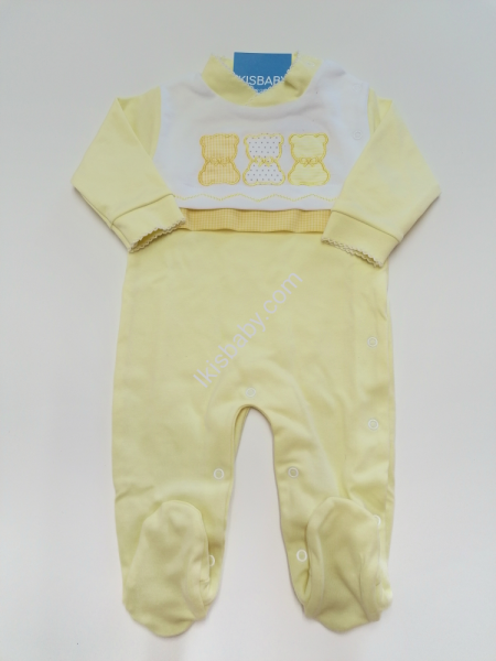 Babygrow Bebé amarelo Algodão
