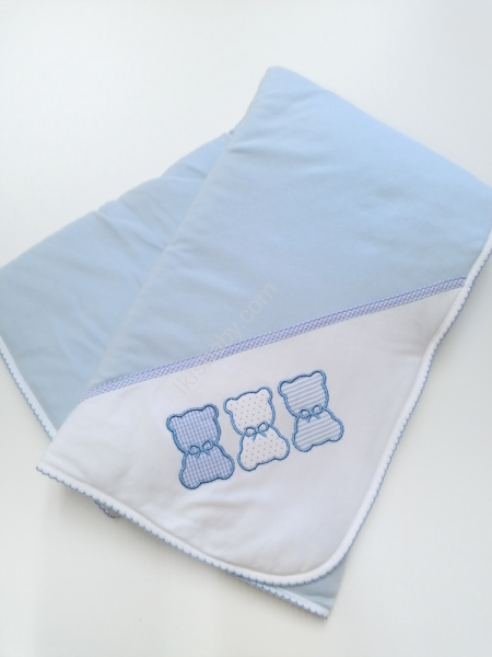 Manta algodão azul