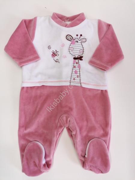Babygrow em Veludo rosa velho
