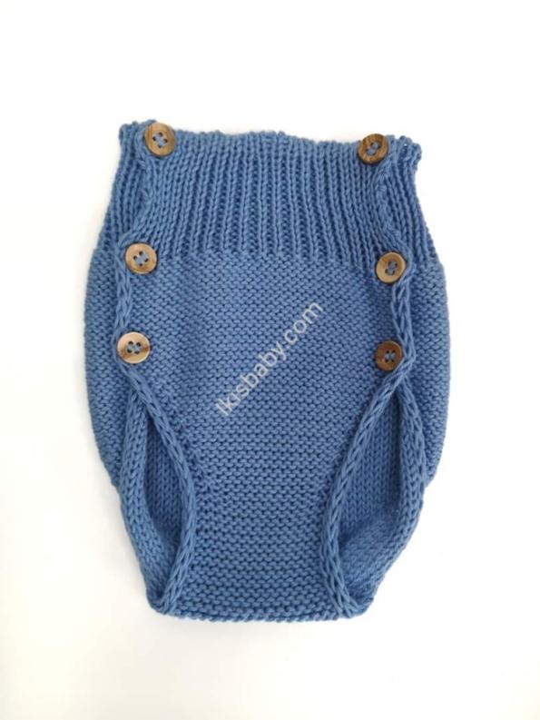 Tapa fraldas em malha azul