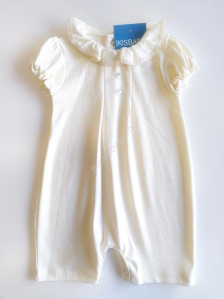Macacão de bebé pérola