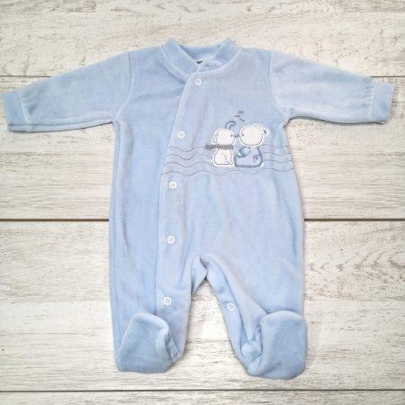 babygrow veludo amiguinhos azul